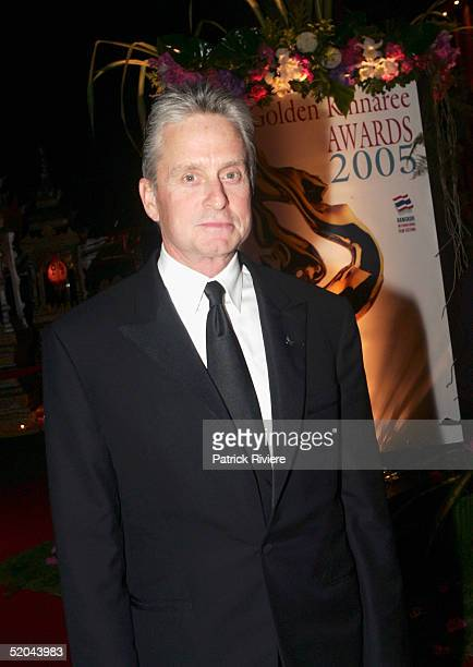 A ctor Michael Douglas arrives at the 2005 Golden Kinnaree Awards for the Bangkok International Film Festival at the Queen Sirikit Convention January...