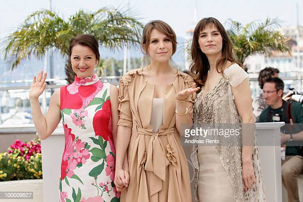 ctress Alina Berzenteanu Stefania Montorsi and Isabella Ragonese attend the 'Our Life' Photocall at the Palais des Festivals during the 63rd Annual...