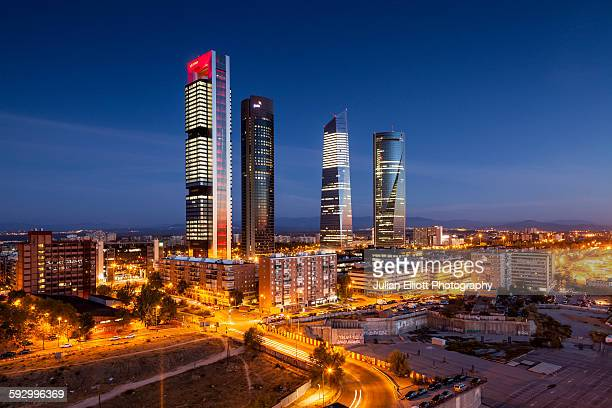 Cuatro Torres Business Area in Madrid, Spain.