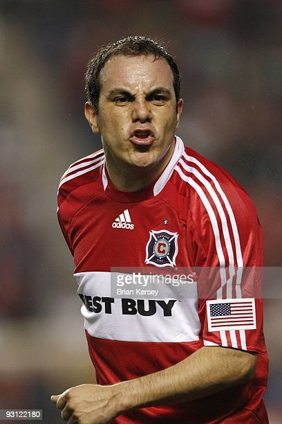 Cuauhtemoc Blanco of the Chicago Fire stands on the field against Real Salt Lake during the second half of the MLS Eastern Conference Championship at...