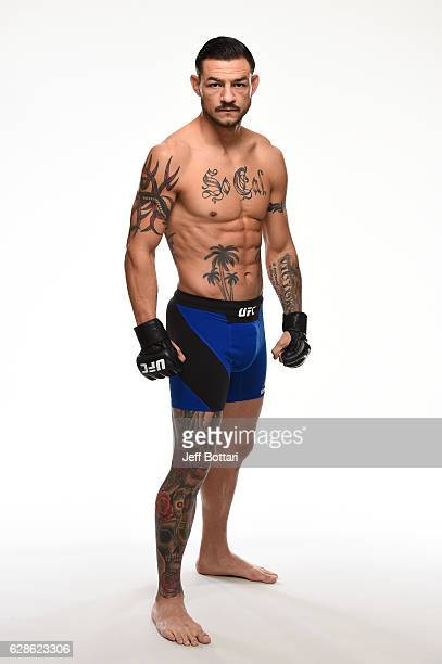 Cub Swanson of the United States poses for a portrait during a UFC photo session at the Westin Harbour Castle on December 7 2016 in Toronto Ontario...