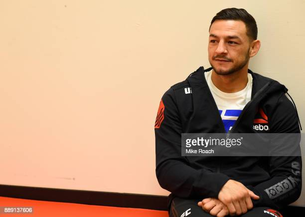 Cub Swanson relaxes backstage during the UFC Fight Night event inside Save Mart Center on December 9 2017 in Fresno California