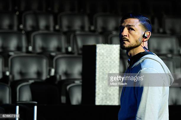 Cub Swanson waits backstage during the UFC 206 weighin inside the Air Canada Centre on December 9 2016 in Toronto Ontario Canada