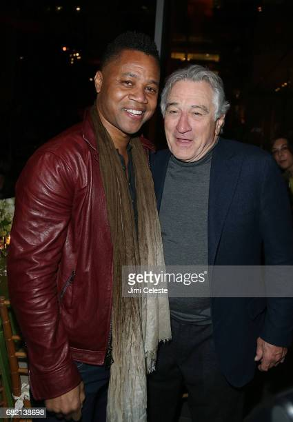 Cuba Godding Jr and Robert De Niro attend the after party for 'The Wizard of Lies' New York premiere at The Museum of Modern Art on May 11 2017 in...