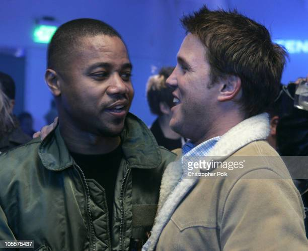 Cuba Gooding Jr and Lochlyn Munro during Exclusive Nintendo DS PreLaunch Party Inside at The Day After in Hollywood CA United States