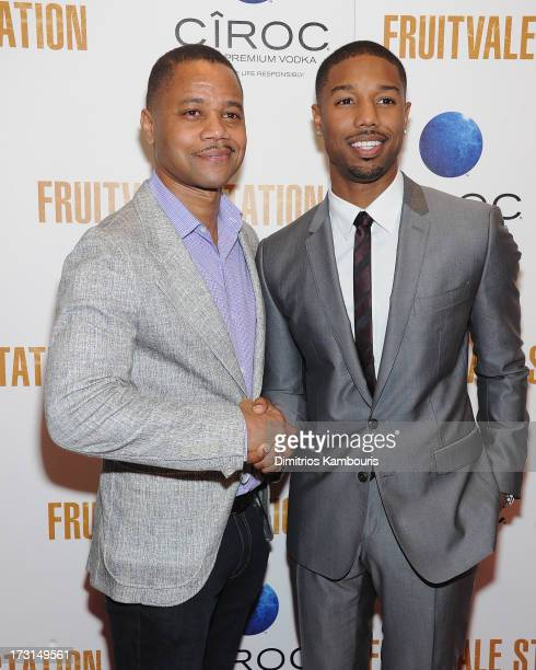 Cuba Gooding Jr and Michael B Jordan attend the 'Fruitvale Station' screening at the Museum of Modern Art on July 8 2013 in New York City