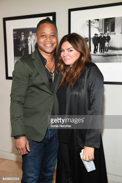 Cuba Gooding Jr and Natasha Koifman attend NKPR IT House x Producers Ball With Nylon Magazine and Coveteur Portrait Studios Day 5 on September 11...