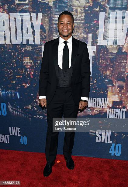 Cuba Gooding Jr attends SNL 40th Anniversary Celebration at Rockefeller Plaza on February 15 2015 in New York City