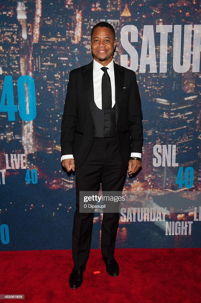 Cuba Gooding, Jr. attends the SNL 40th Anniversary Celebration at Rockefeller Plaza on February 15, 2015 in New York City.
