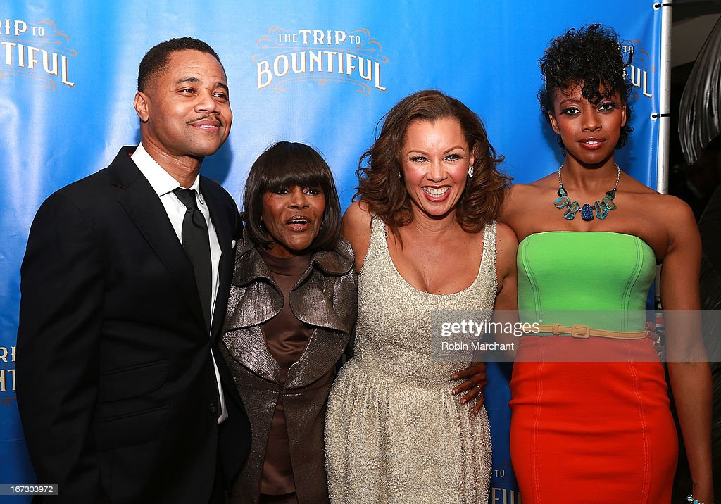 Cuba Gooding Jr, <a gi-track='captionPersonalityLinkClicked' href=/galleries/search?phrase=Cicely+Tyson&family=editorial&specificpeople=211450 ng-click='$event.stopPropagation()'>Cicely Tyson</a>, Vanessa Williams and Condola Rashad attend the after party for the Broadway opening night of 'The Trip To Bountiful' at Copacabana on April 23, 2013 in New York City.