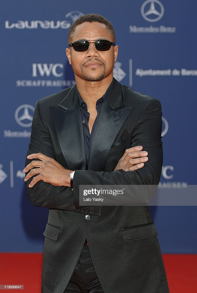 Cuba Gooding, Jr. during 2006 Laureus World Sports Awards - Red Carpet Arrivals in Barcelona, Spain.