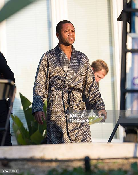 Cuba Gooding Jr is seen on the set of 'American Crime Story The People V OJ Simpson' on May 20 2015 in Los Angeles California