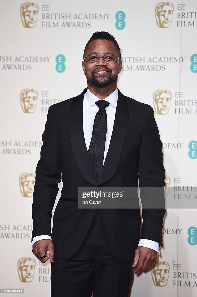 Cuba Gooding Jr poses in the winners room at the EE British Academy Film Awards at the Royal Opera House on February 14, 2016 in London, England.