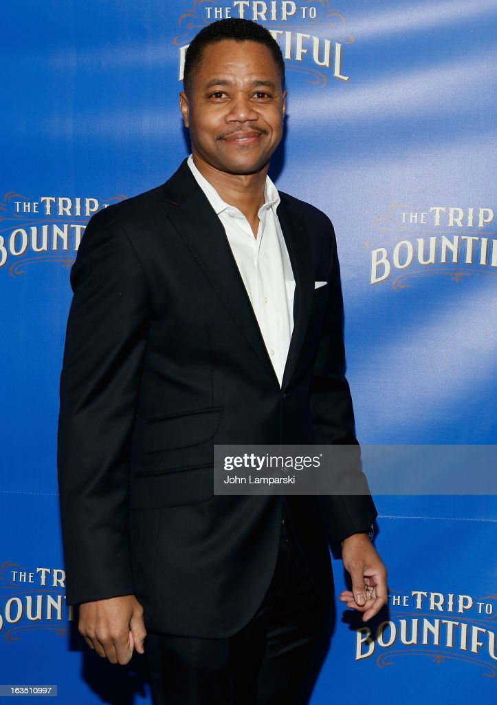 Cuba Gooding Jrattend s the 'The Trip To Bountiful' Broadway Cast Photocall at Sardi's on March 11, 2013 in New York City.