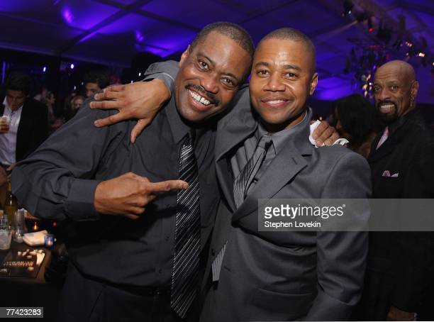 Cuba Gooding Sr and actor Cuba Gooding Jrattend the afterparty of the world premiere of American Gangster at the Apollo Theater on October 19 2007 in...