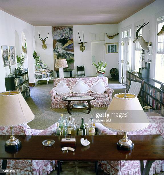 Hemingway Ernest *21071899 Writer USA Winner of the nobel prize for literature 1954 living room of Hemingway's former house 'Finca Vigia' in San...