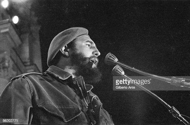 Cuba Speech of Fidel Castro during the first demonstration in support of the Revolution in Havana in front of the old Presidential palace 19591960
