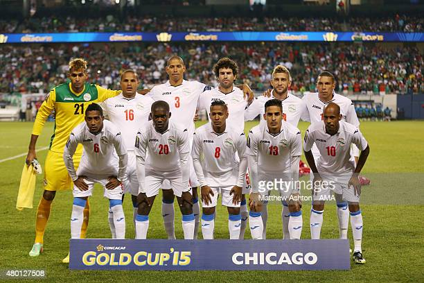 Cuba team group during the CONCACAF Gold Cup match between Mexico and Cuba at Soldier Field on July 9 2015 in Chicago Illinois