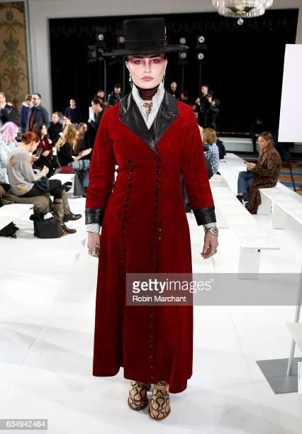 Cuba Torenado Scott attends Sies Marjan during New York Fashion Week on February 12 2017 in New York City