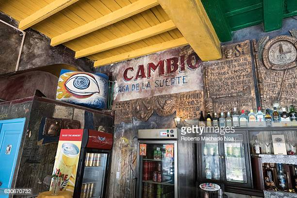 Cuba Travel and Tourism Bar 'El Cambio' in the Ignacio Agramonte plaza or square The traditional drinking establishment is a popular landmark and...
