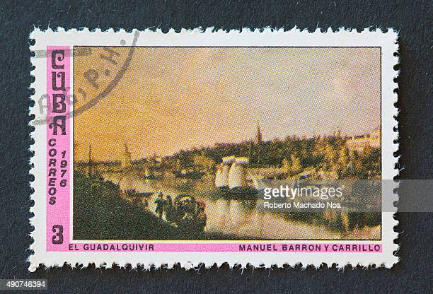 Cuban 1976 stamp depicting the painting of river Guadalquivir by Manuel Barron y Carrillo Manuel Barron y Carrillo was a 19th century painter