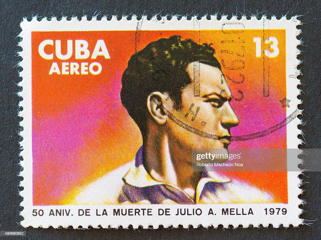 Cuban 1979 stamp commemorating the 50th death anniversary of Julio Antonio Mella Julio Antonio Mella McPartland was a founder of the...