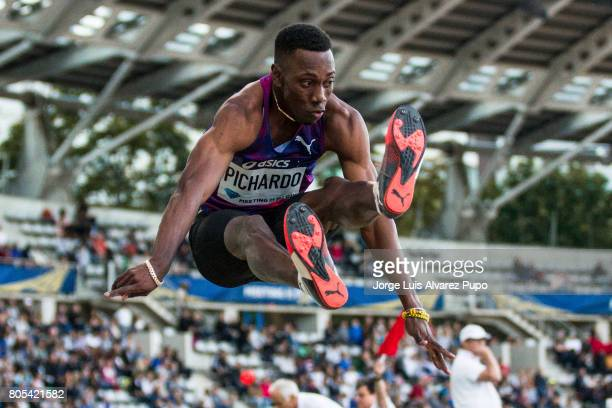 Cuban athlete Pedro Pablo Pichardo jumps in the Triple Jump competition during Meeting de Paris of the IAAF Diamond League 2017 at Charlety Stadium...