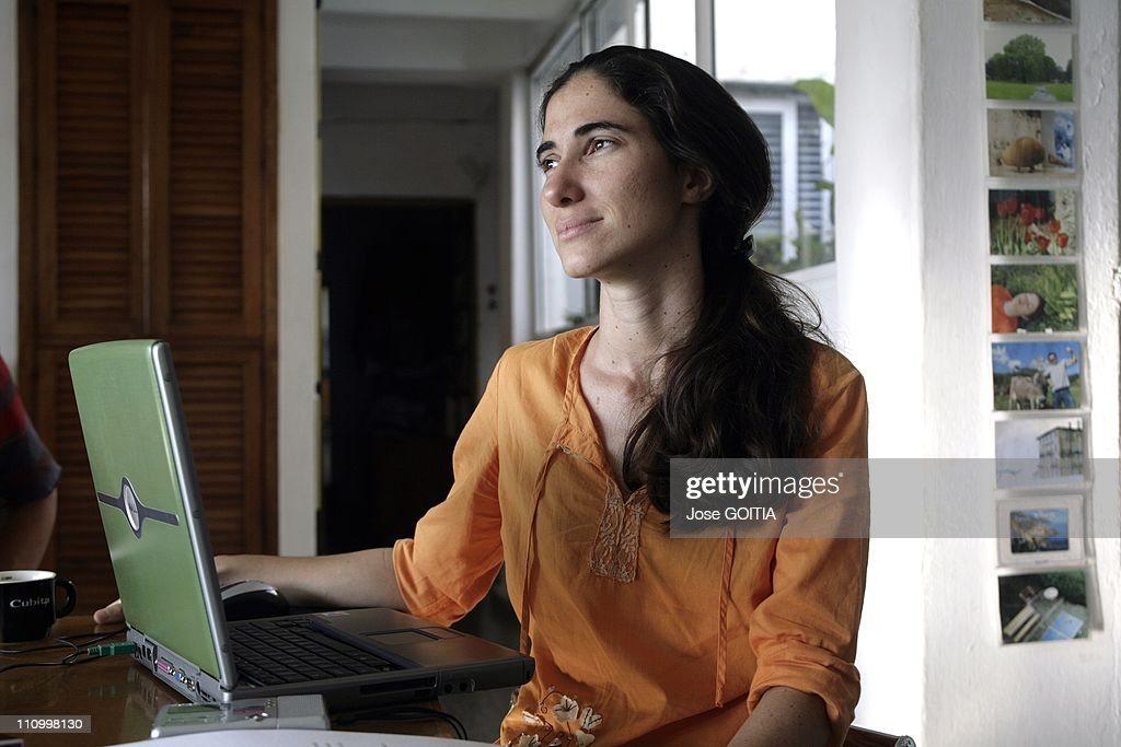 Cuban authorities have refused to give a travel visa Yoani Sanchez in Havana, Cuba on May 7th, 2008, so she can receive one of Spainis top journalism awards in Madrid on Wednesday, said Spanish newspaper El Pais which hands out the awards annually.