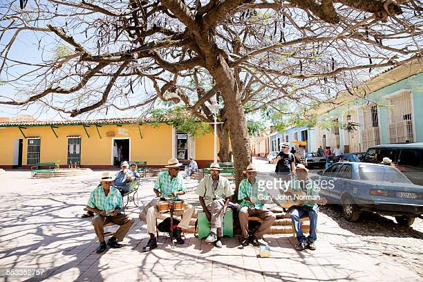 Cuban band playing for tourists in Trinidad, Cuba