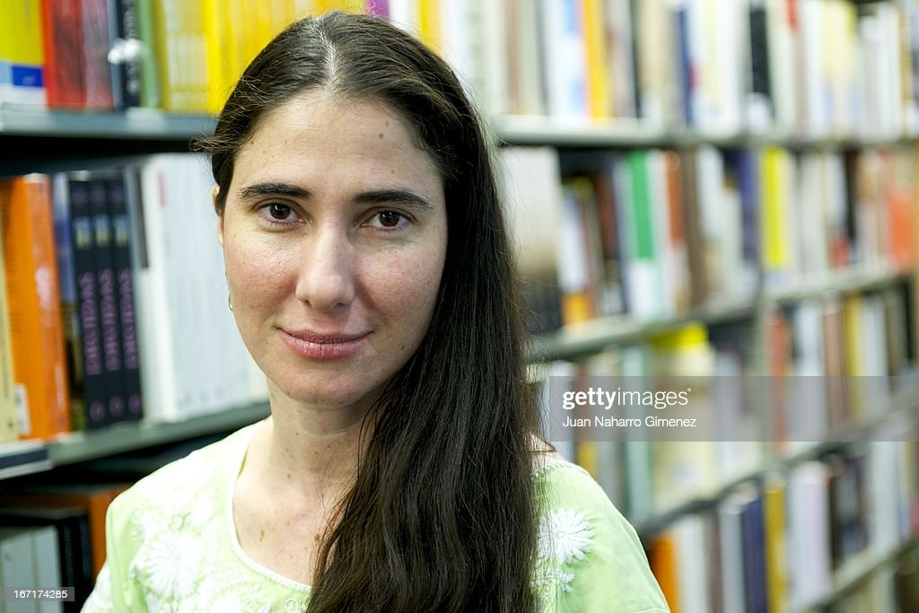 Cuban blogger <a gi-track='captionPersonalityLinkClicked' href=/galleries/search?phrase=Yoani+Sanchez&family=editorial&specificpeople=5329857 ng-click='$event.stopPropagation()'>Yoani Sanchez</a> attends a presentation of her book 'Wordpress. Un Blog Para Hablar al Mundo' at Fnac on April 22, 2013 in Madrid, Spain.