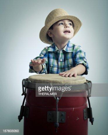 cuban boy playing latin percussion