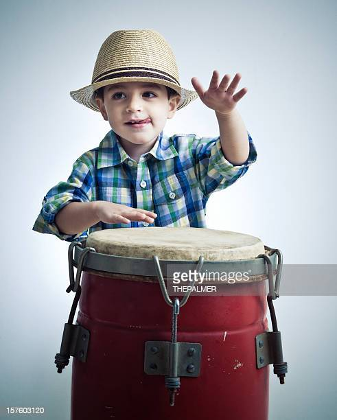 cuban boy playing latin percussion