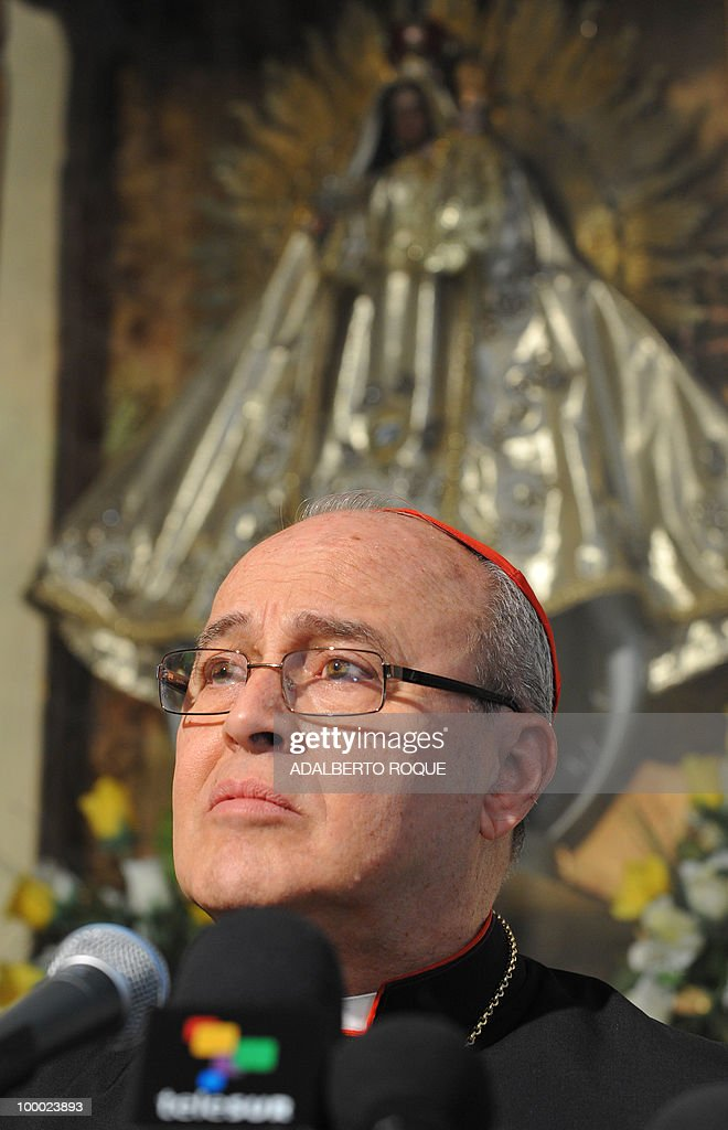 Cuban Cardinal Jaime Ortega speaks durin