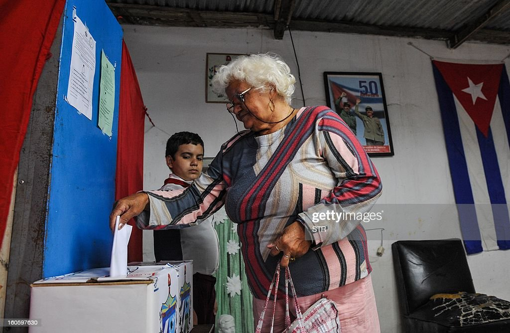 A Cuban casts her vote at a polling station in Havana on February 3, 2013. Cubans on Sunday elected provincial delegates to to the People's Power assemblies and parliamentary deputies.