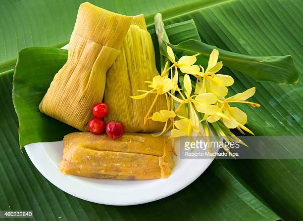 Cuban cuisine Delicious traditional homemade tamales made of corn masa