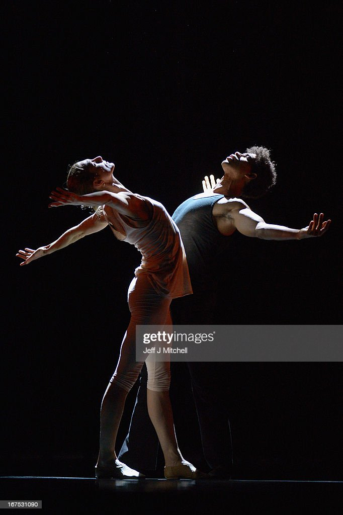 Cuban dancer <a gi-track='captionPersonalityLinkClicked' href=/galleries/search?phrase=Carlos+Acosta&family=editorial&specificpeople=642048 ng-click='$event.stopPropagation()'>Carlos Acosta</a> and Zenaida Yanowsky rehearse for his only UK dates of 'On Before' at the Festival Theatre on April 26, 2013 in Edinburgh, Scotland. The show which runs today and tomorrow is created and danced by Acosta and features fellow Royal Ballet principle dancer Zenaida Yanowsky, it tells the story of a doomed relationship between a man and a woman.