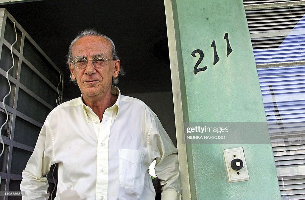 Cuban Eloy Gutierrez Menoyo, former guerrilla leader and political prisoner, is seen at his home in Havana, 13 August 2003. The opposition leader asked to Cuban Government to open a legal space to the opposition in the island. Cuban-American leaders expressed on August 7th, outrage at the decision of Cuban exile Gutierrez Menoyo to return to his homeland where he once served 22 years in prison for opposing President Fidel Castro.