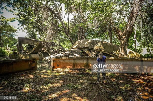 Cuban farmer Jose Teston cleans the site of a Russian R12 theatre missile silo built during the 1962 missile crisis in San Cristobal Mayabeque...