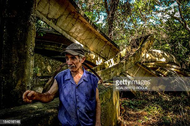 Cuban farmer Jose Teston remains at the site of a Russian R12 theatre missile silo built during the 1962 missile crisis in San Cristobal Mayabeque...