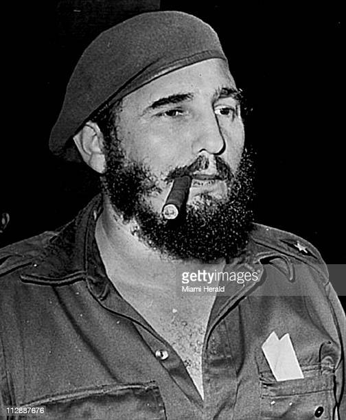 Cuban leader Fidel Castro appears with a cigar in a 1959 file photo