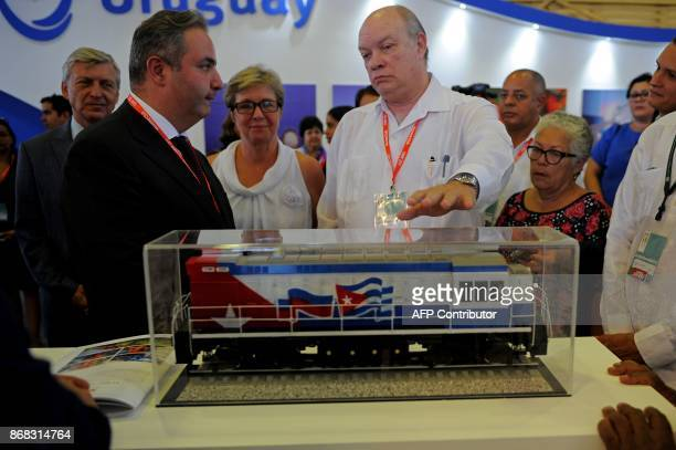 Cuban Minister of Foreign Trade and Investment Rodrigo Malmierca and Russian Deputy Industry and Trade Minister Georgy Kalamanov visit the Russian...