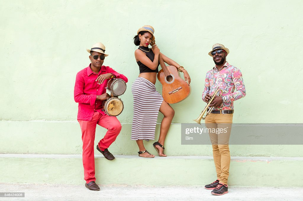 Cuban Musical Band Outdoors : Stock-Foto