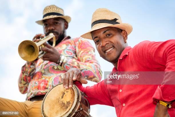 Cuban musician with trumpet, Havana, Cuba
