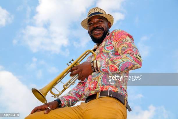 Kubanische Musiker mit Trompete, Havanna, Kuba