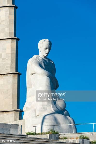 Cuban National Hero Jose Marti statue and memorial at Revolution Square Havana Cuba Jose Marti is a Cuban national hero and is referred to as the...