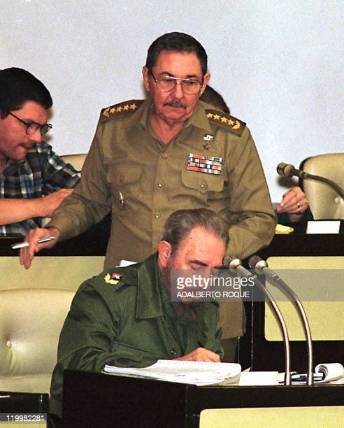 Cuban President Fidel Castro and his brother Vice President Raul Castro attend the last working session of the year by the Cuban Parliament 21...