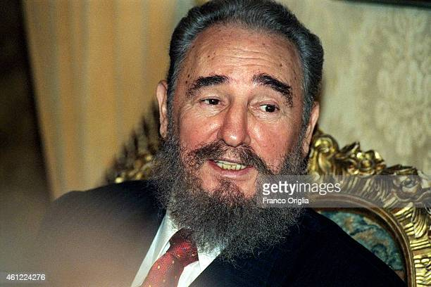 Cuban President Fidel Castro attends the World Food Summit at the FAO Palace on November 16 1996 in Rome Italy
