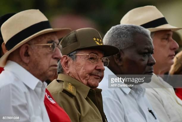 Cuban president Raul Castro Cuban vice president Jose Ramon Machado Ventura President of the Cuban National Assembly and Parliament Esteban Lazo and...