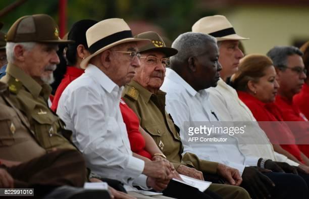 Cuban president Raul Castro Cuban Vice president of the State Council Ramiro Valdez Cuban vice president Jose Ramon Machado Ventura the President of...