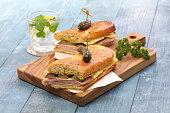 cuban sandwich, cuban mix, ham and cheese pressed sandwich